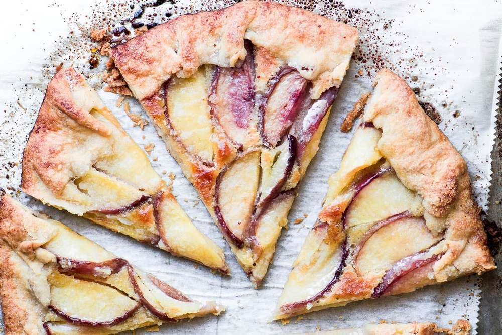 White Peach Frangipane Galette Recipe   HeyFood — heyfoodapp.com