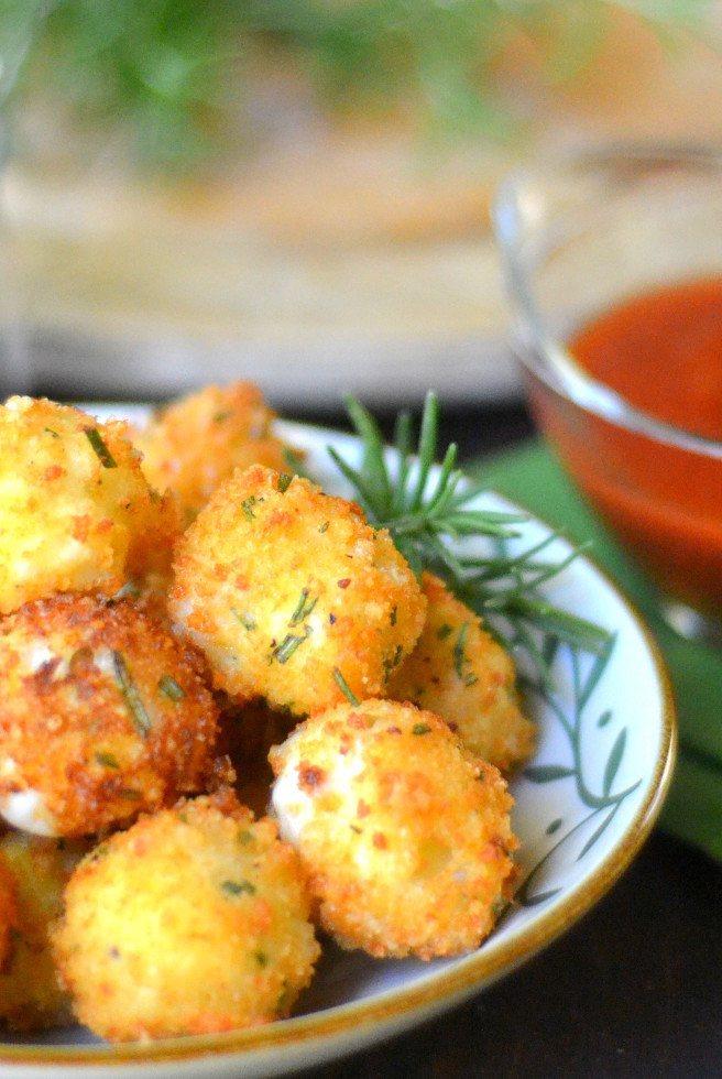 Fried Rosemary Mozzarella Balls Recipe | HeyFood — heyfoodapp.com