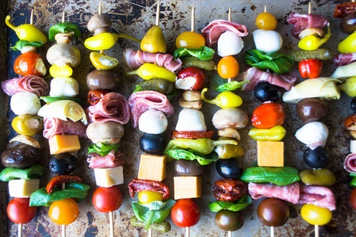 Antipasto Skewers Recipe | HeyFood — heyfoodapp.com