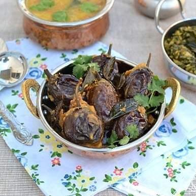 Gutti Vankaya Kura (dry version) Recipe | HeyFood — heyfoodapp.com