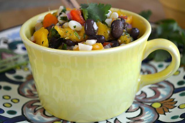 Minimal Monday: Black Bean, Corn and Mango Salsa with Homemade Tortillas Recipe   HeyFood — heyfoodapp.com