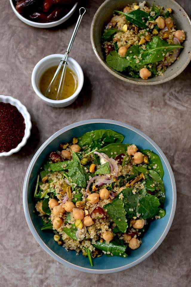 Quinoa Salad with Pistachios & Dates Recipe | HeyFood — heyfoodapp.com