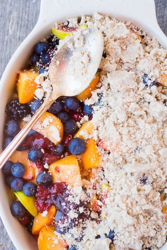 Summer Fruit Jumble Crumble Recipe | HeyFood — heyfoodapp.com