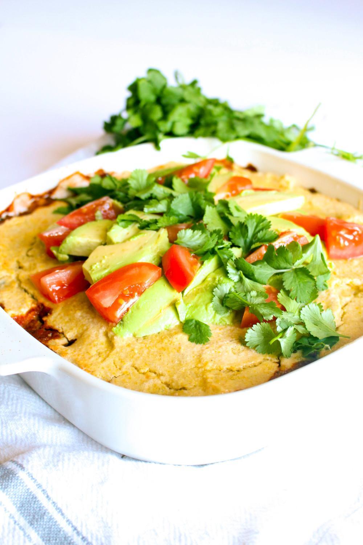 Sweet Potato Black Bean Tamale Pie Recipe | HeyFood — heyfoodapp.com