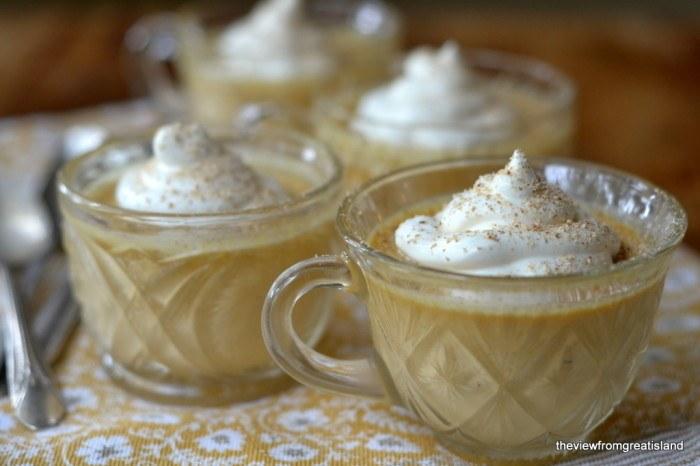 Pumpkin Pot de Crème with Maple Whipped Cream Recipe | HeyFood — heyfoodapp.com