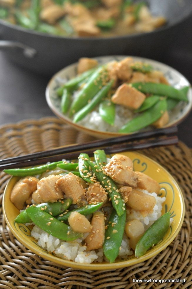 Chicken with Snow Peas Recipe | HeyFood — heyfoodapp.com