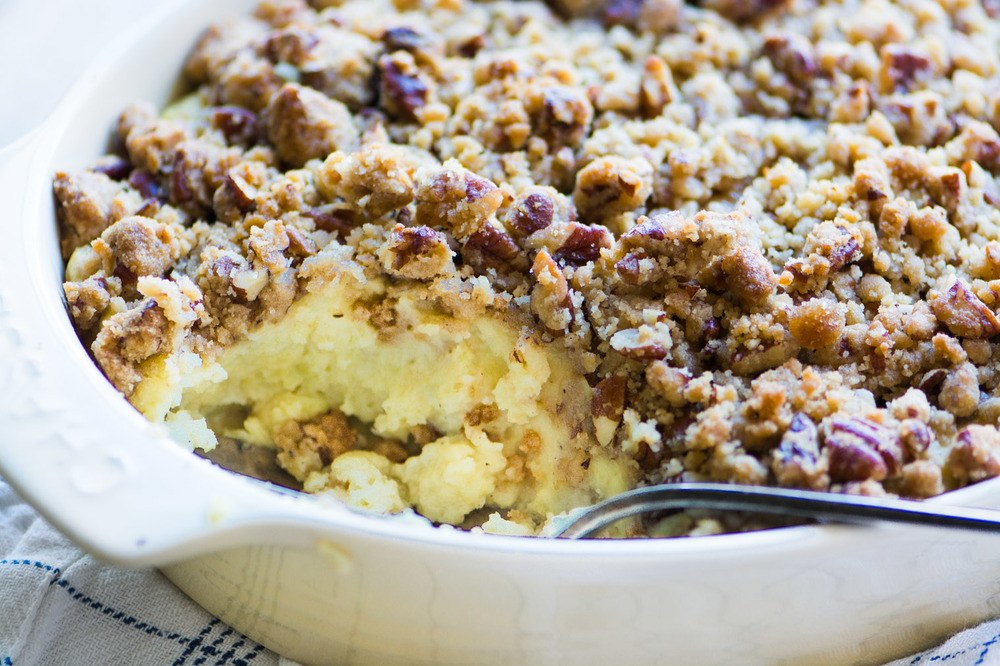 Butter Pecan Sweet Potato Casserole Recipe | HeyFood — heyfoodapp.com