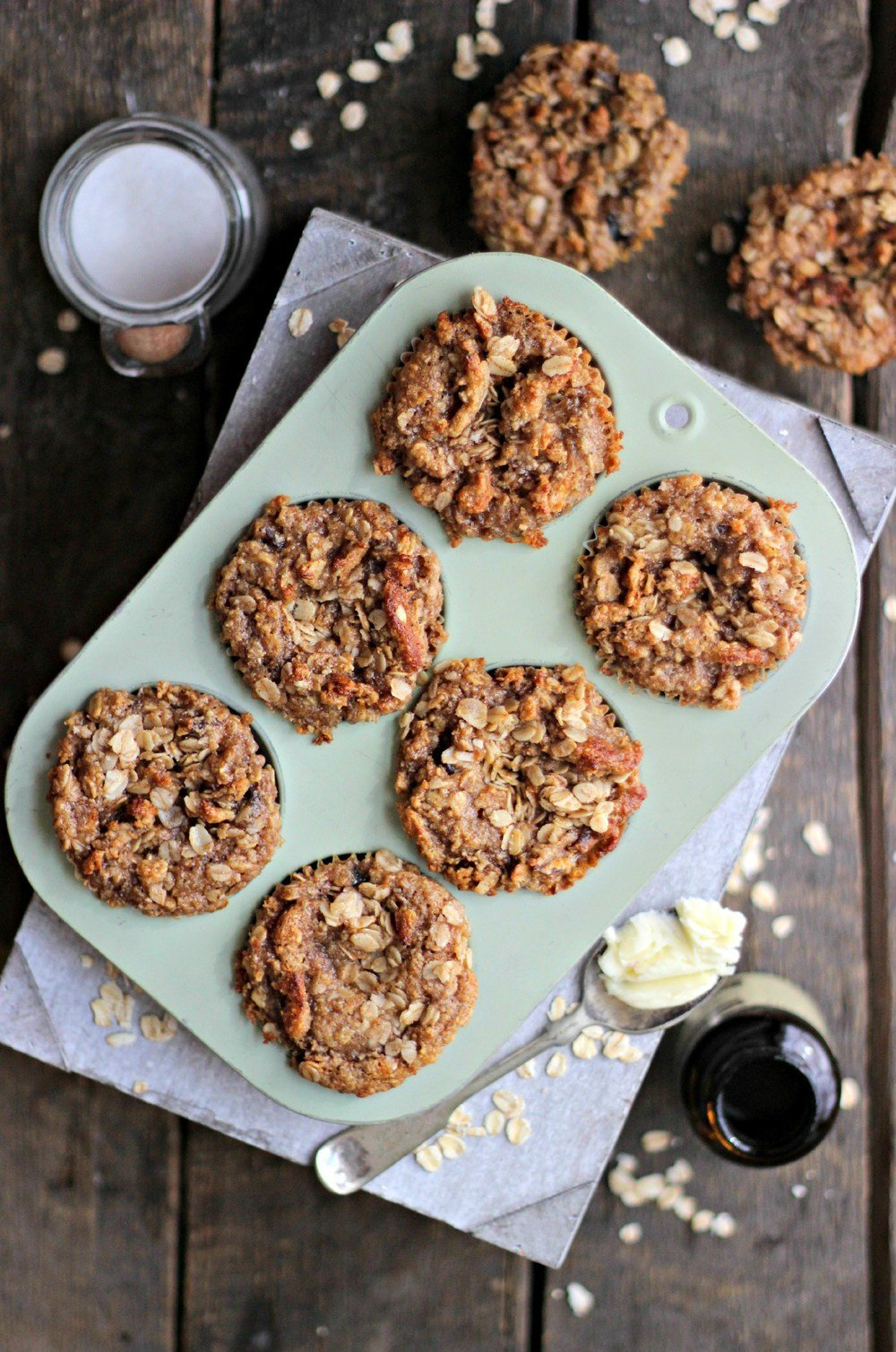 Date Coffee Cake Yogurt Muffins with Cinnamon Streusel Recipe | HeyFood — heyfoodapp.com