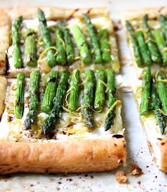 Asparagus, Spring Onion and Fontina Tart Recipe | HeyFood — heyfoodapp.com