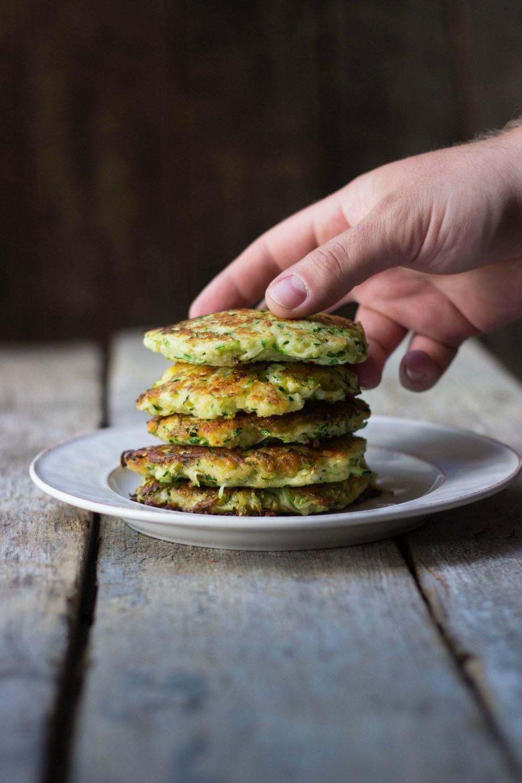 Cheesy Zucchini Fritters Recipe | HeyFood — heyfoodapp.com