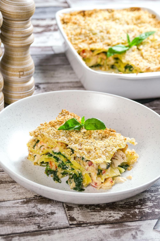 Crab, Crayfish and Prawn Lasagne Recipe | HeyFood — heyfoodapp.com