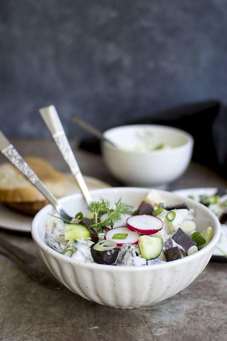 Scandinavian Beet Potato Salad Recipe | HeyFood — heyfoodapp.com