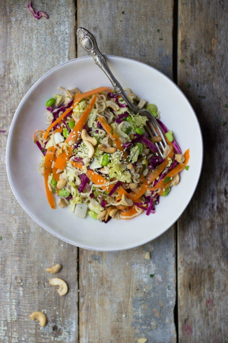 Chinese Chicken Salad + Orange-Ginger Sesame Dressing Recipe | HeyFood — heyfoodapp.com