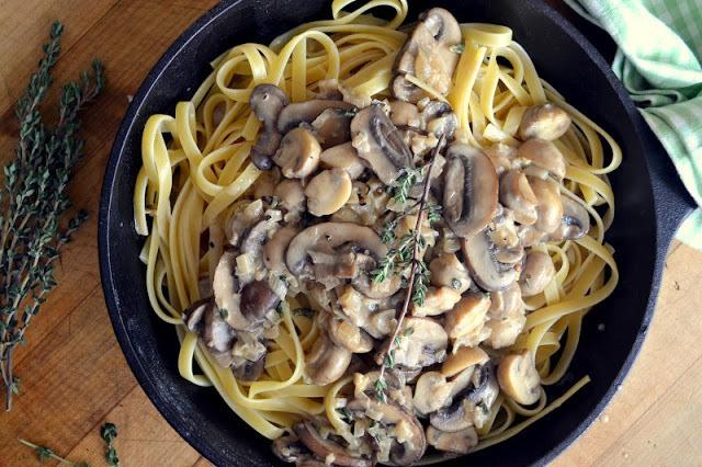 Fettuccine with Mushroom Marsala Recipe   HeyFood — heyfoodapp.com