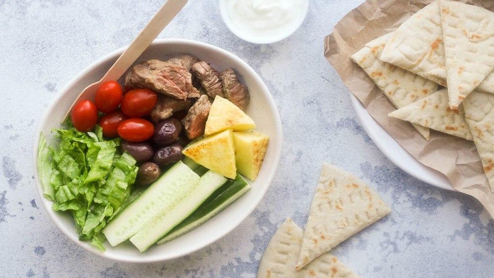 Lamb Souvlaki Bowl Recipe | HeyFood — heyfoodapp.com