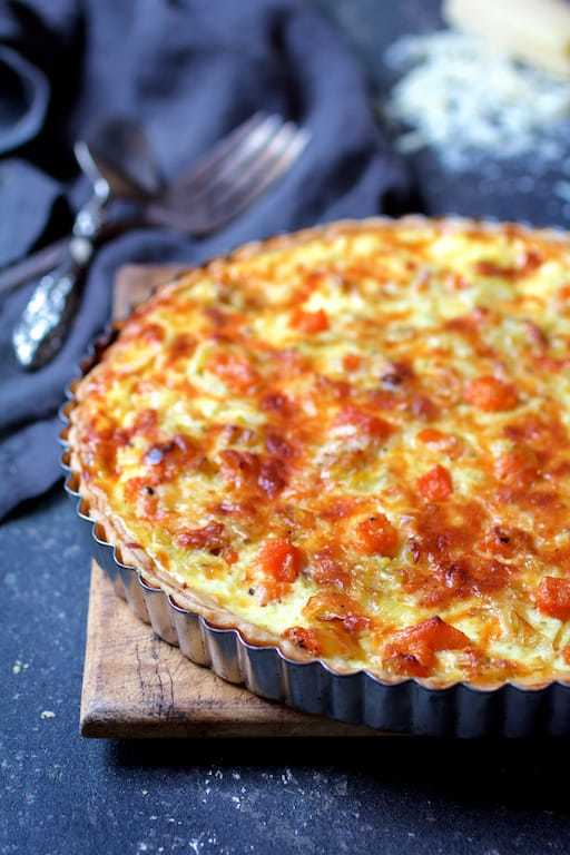 Butternut Squash Leek and Gruyere Tart Recipe | HeyFood — heyfoodapp.com