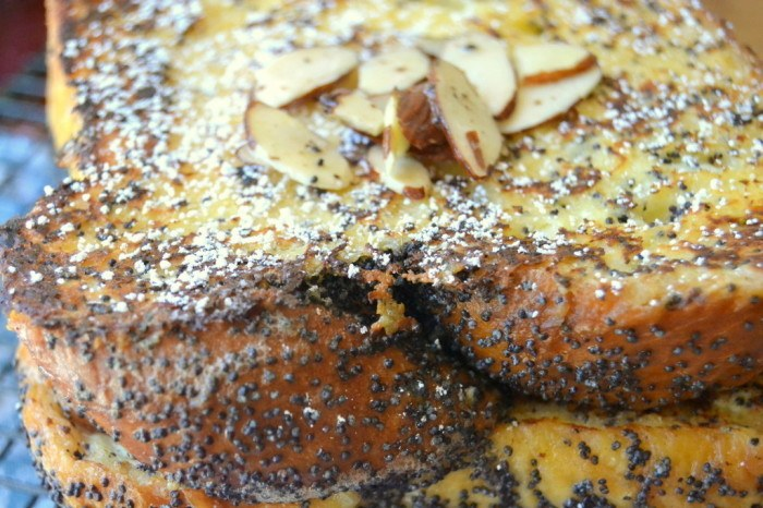 Almond Poppy Seed French Toast Recipe | HeyFood — heyfoodapp.com