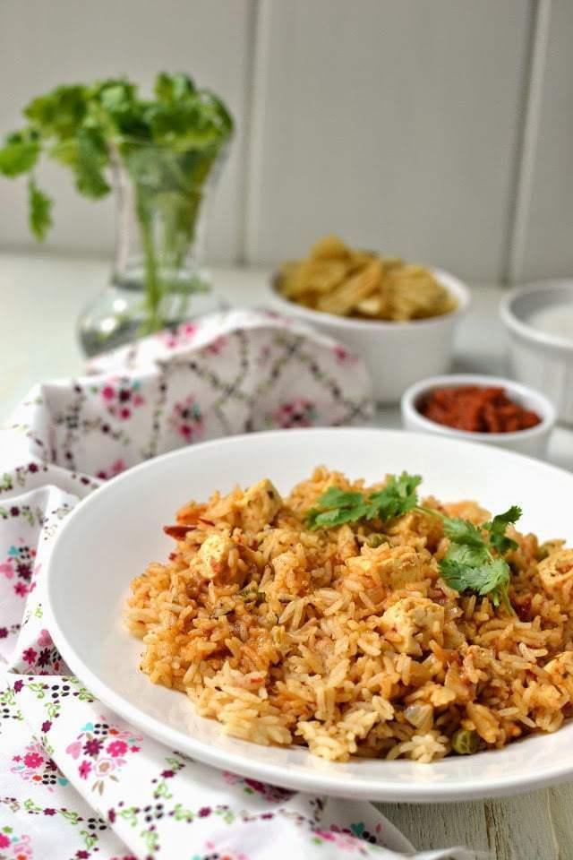 Quick Paneer Pulao Recipe   HeyFood — heyfoodapp.com