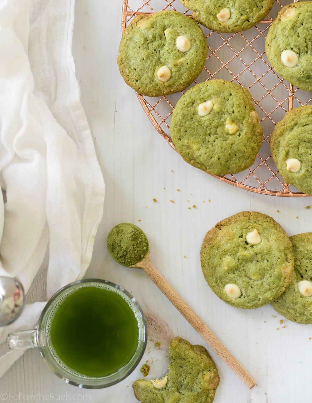 Matcha White Chocolate Chip Cookies Recipe   HeyFood — heyfoodapp.com