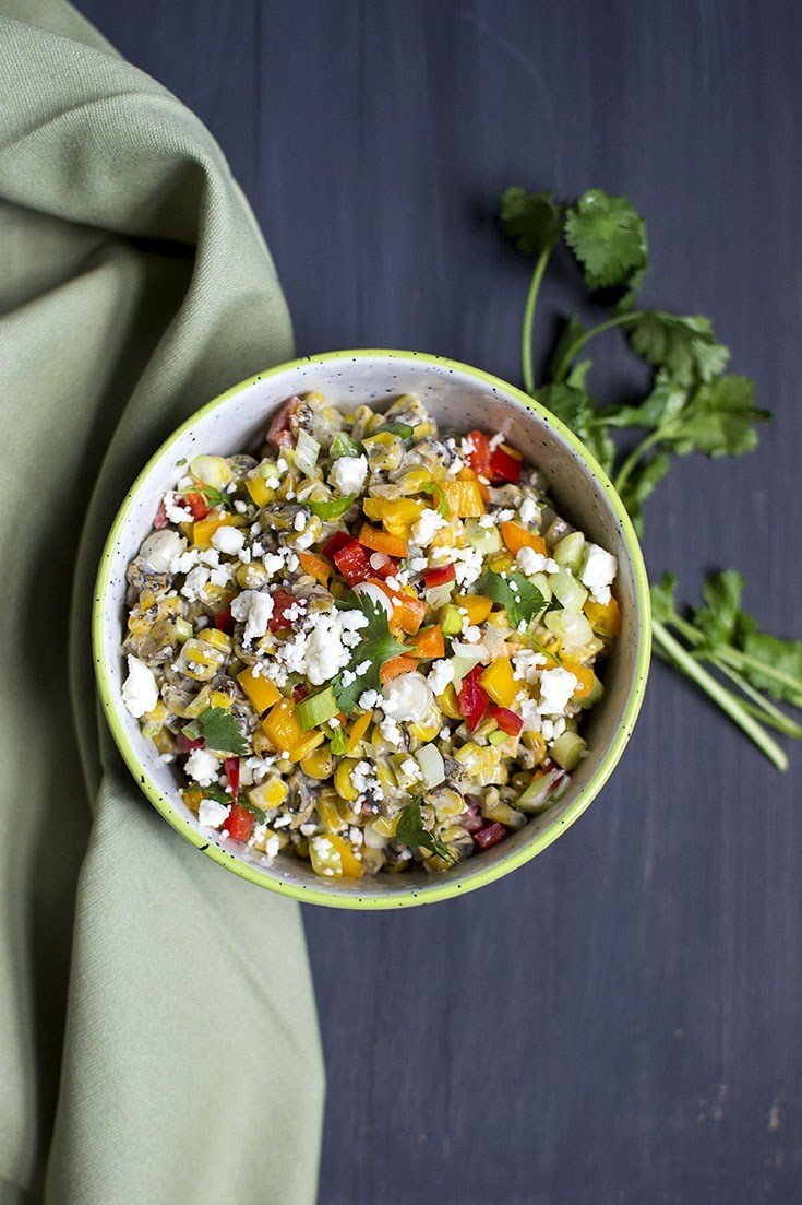 Mexican Grilled Corn Salad Recipe Recipe   HeyFood — heyfoodapp.com