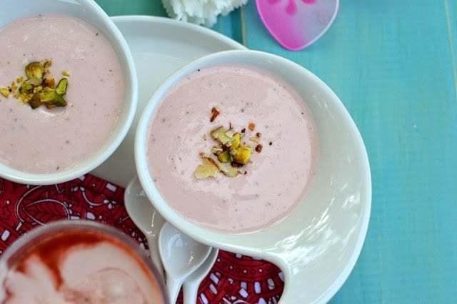 Strawberry Shrikhand Recipe | HeyFood — heyfoodapp.com
