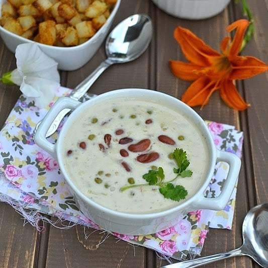 Rajma Mutter (Kidney Beans & Green Peas with Yogurt & Cream) Recipe | HeyFood — heyfoodapp.com