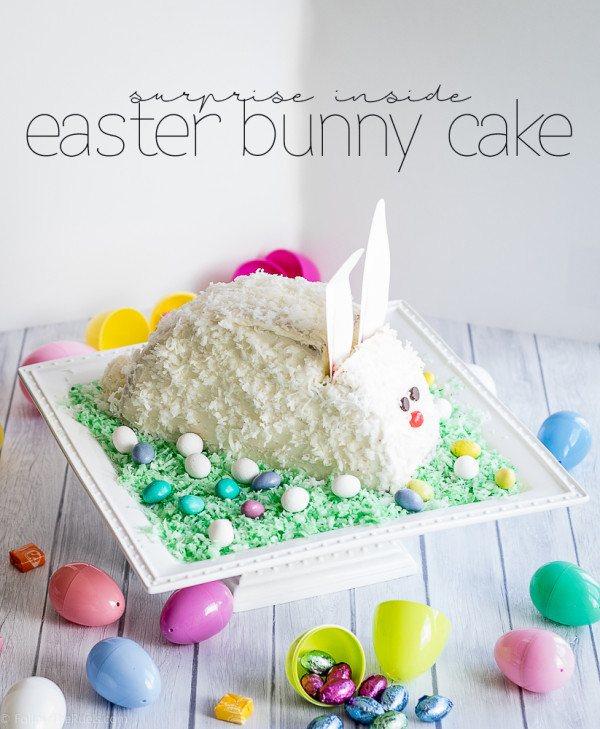 Surprise Inside Easter Bunny Cake Recipe | HeyFood — heyfoodapp.com