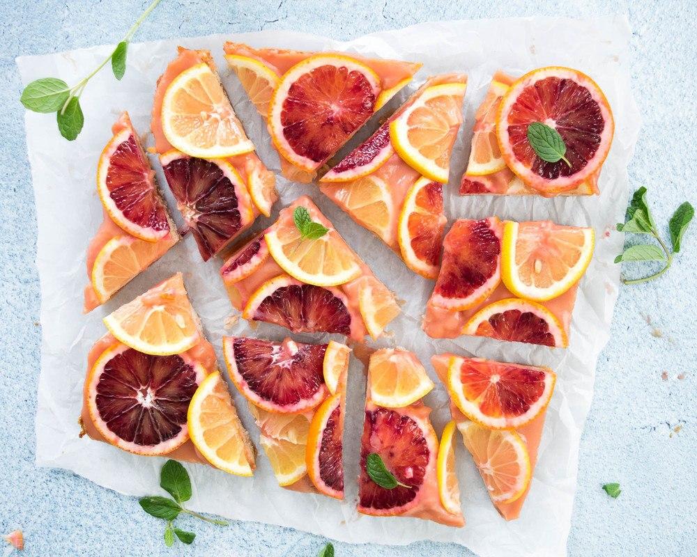 Blood Orange Lemon Bars Recipe   HeyFood — heyfoodapp.com