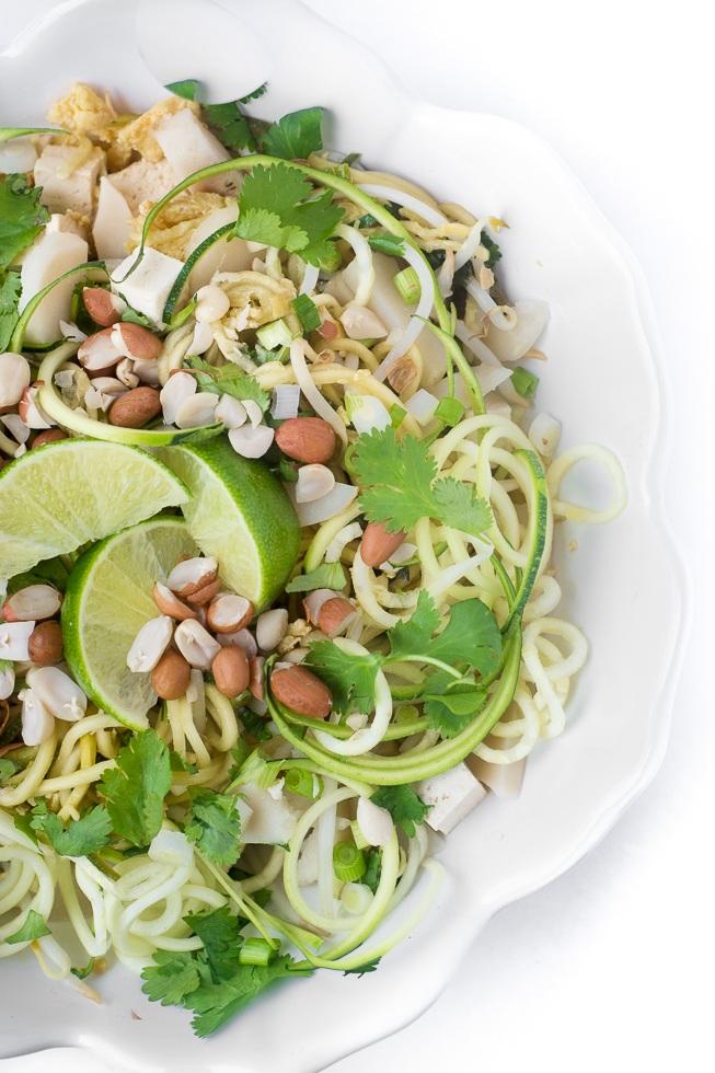 Spicy Zoodle Pad Thai Salad Recipe   HeyFood — heyfoodapp.com