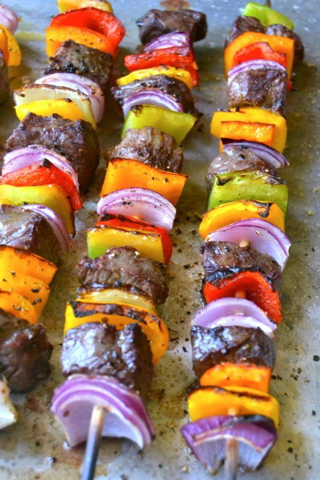 Steak Fajita Skewers with Cilantro Pesto Recipe | HeyFood — heyfoodapp.com