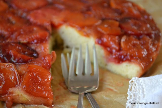 Caramelized Plum Upside Down Cake Recipe | HeyFood — heyfoodapp.com