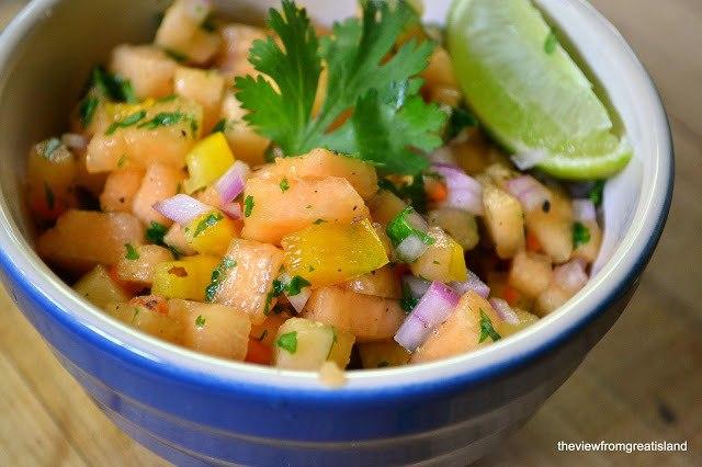 Cantaloupe Habanero Salsa Recipe | HeyFood — heyfoodapp.com