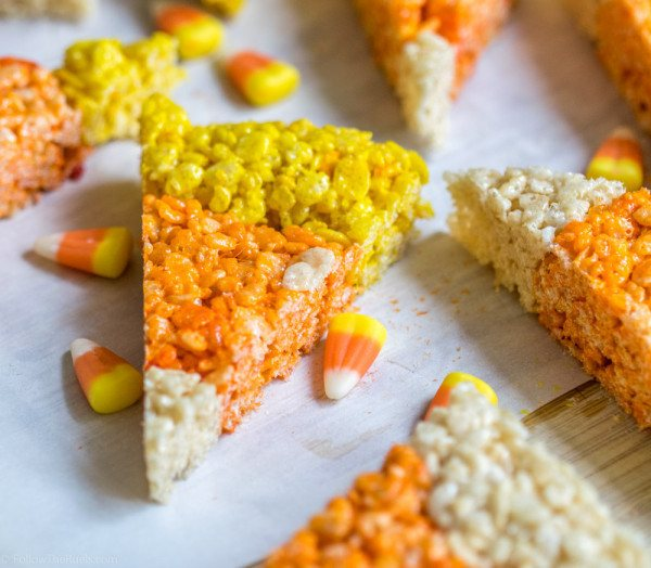 Candy Corn Rice Krispie Treats Recipe | HeyFood — heyfoodapp.com