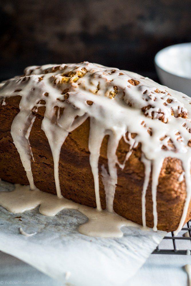 Glazed Pumpkin Bread Recipe   HeyFood — heyfoodapp.com