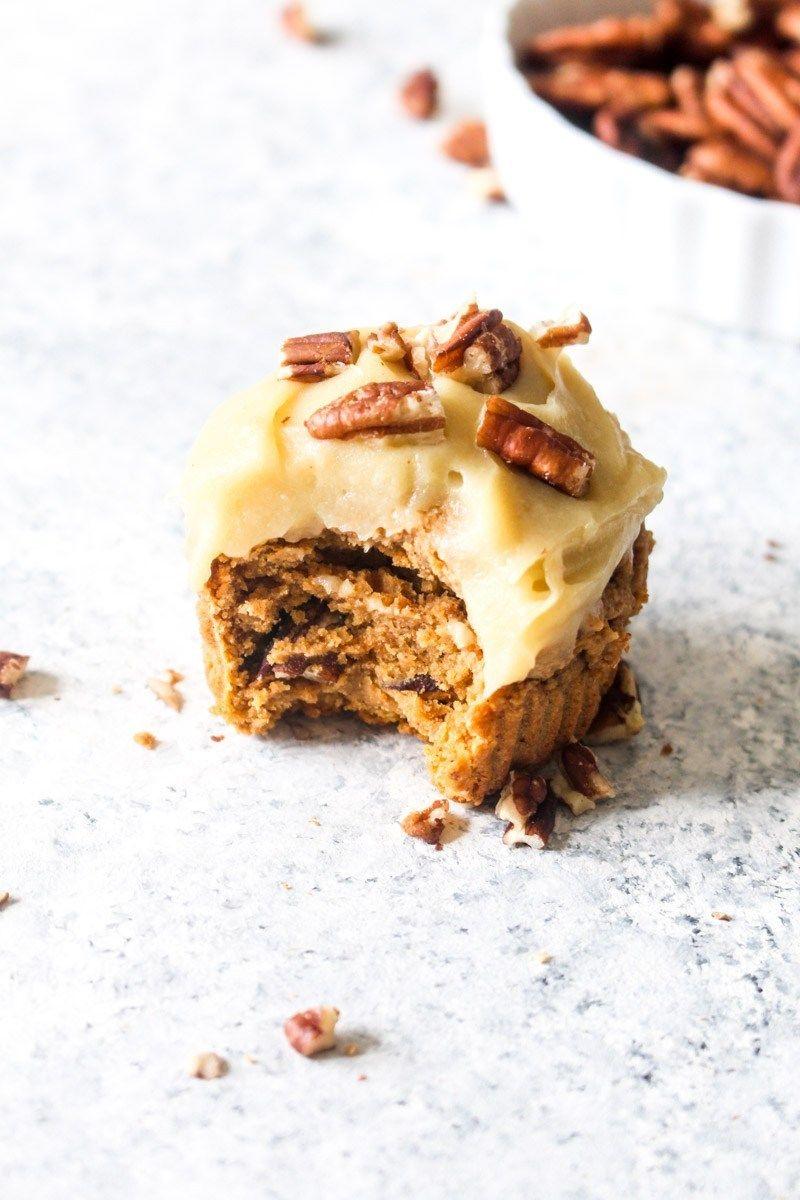 Healthy Sweet Potato Cupcakes with Sweet Potato Frosting Recipe | HeyFood — heyfoodapp.com