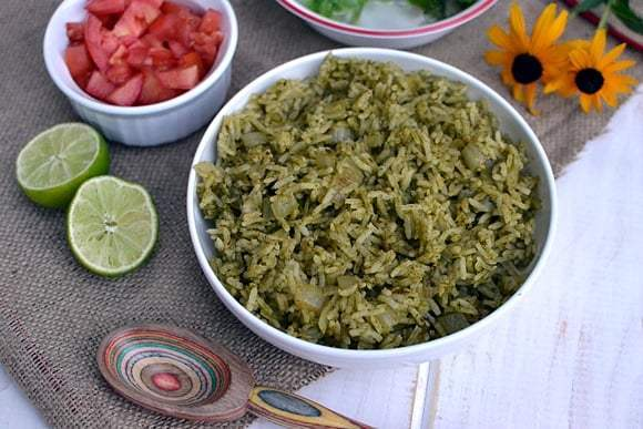 Mexican Green Rice (Arroz Verde) Recipe | HeyFood — heyfoodapp.com