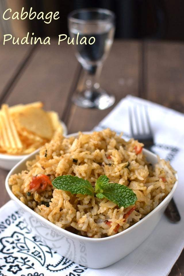 Cabbage-Pudina Pulao (Cabbage Mint Pilaf) Recipe | HeyFood — heyfoodapp.com