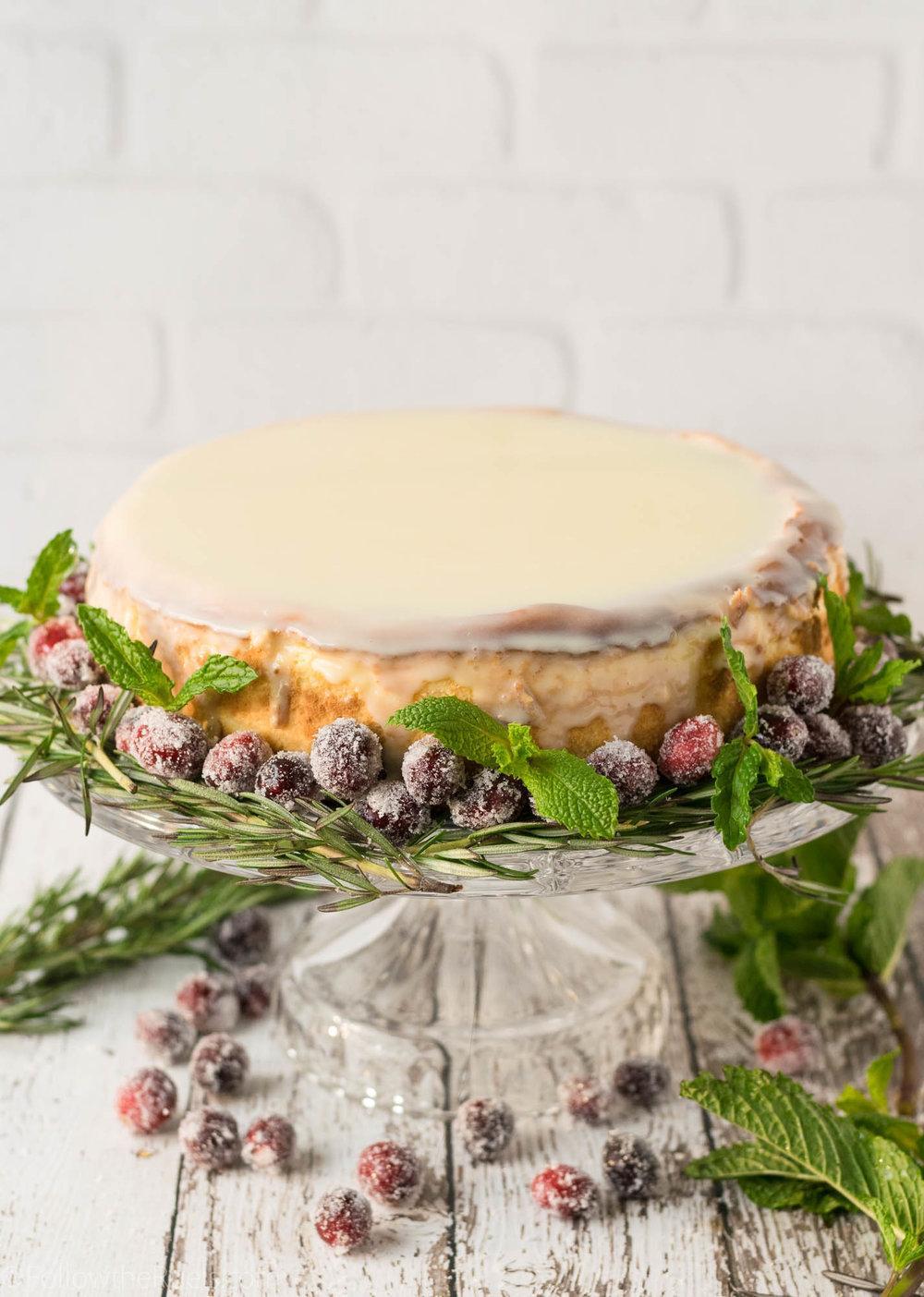 White Chocolate Cheesecake with Biscoff Cookie Crust Recipe | HeyFood — heyfoodapp.com