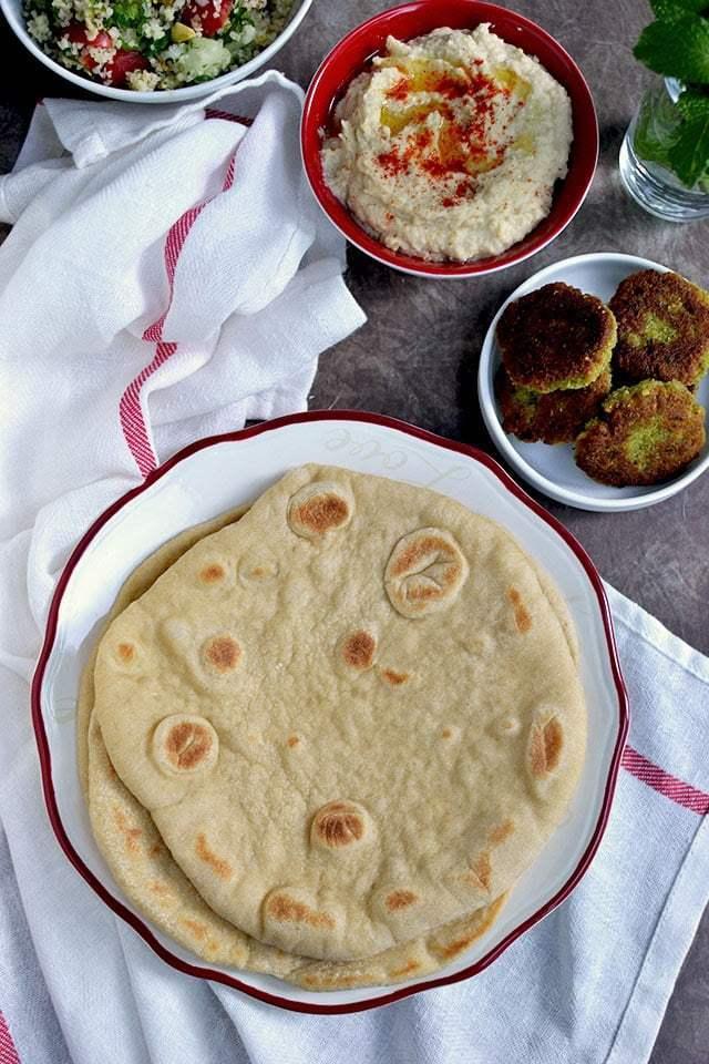 Cast Iron Skillet Pita Bread Recipe | HeyFood — heyfoodapp.com