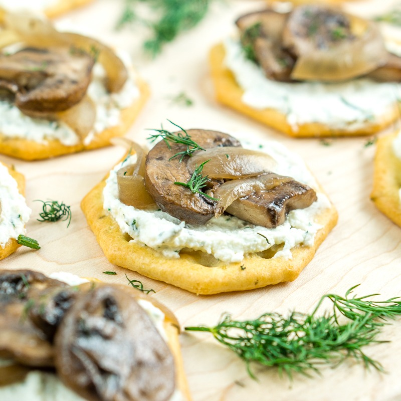 Whipped Feta with Truffled Mushrooms Appetizer Recipe | HeyFood — heyfoodapp.com