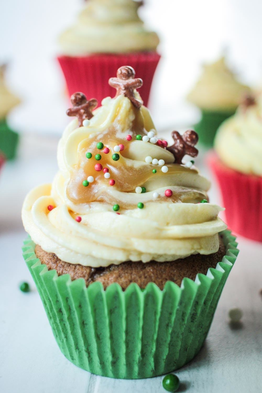Sticky Ginger Christmas Cupcakes Recipe | HeyFood — heyfoodapp.com