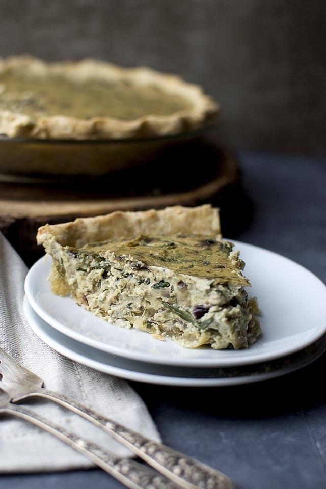 Caramelized Onion & Spinach Quiche Recipe | HeyFood — heyfoodapp.com