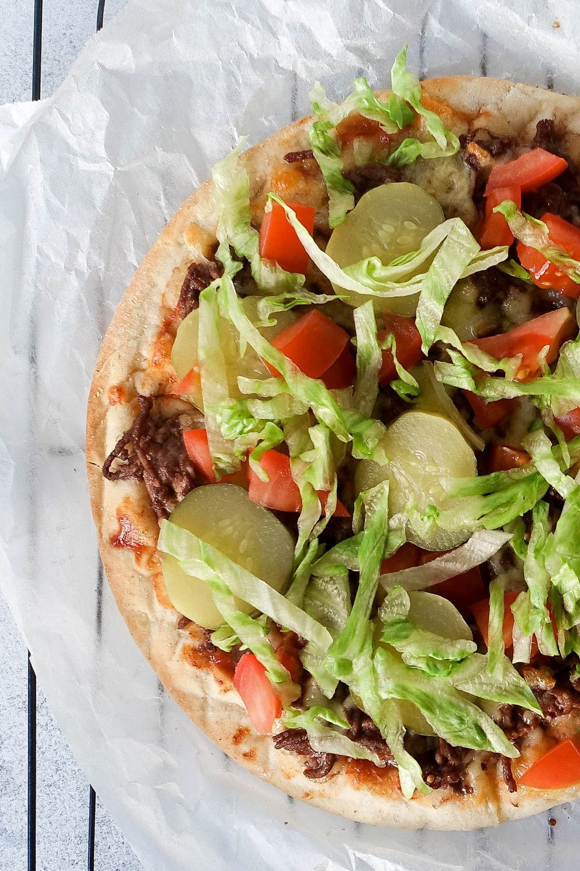 Cheeseburger Pizza Recipe | HeyFood — heyfoodapp.com