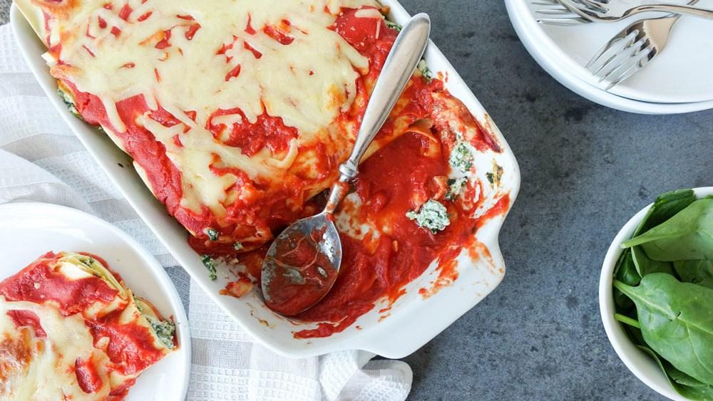 Spinach and Ricotta Cannelloni Recipe   HeyFood — heyfoodapp.com