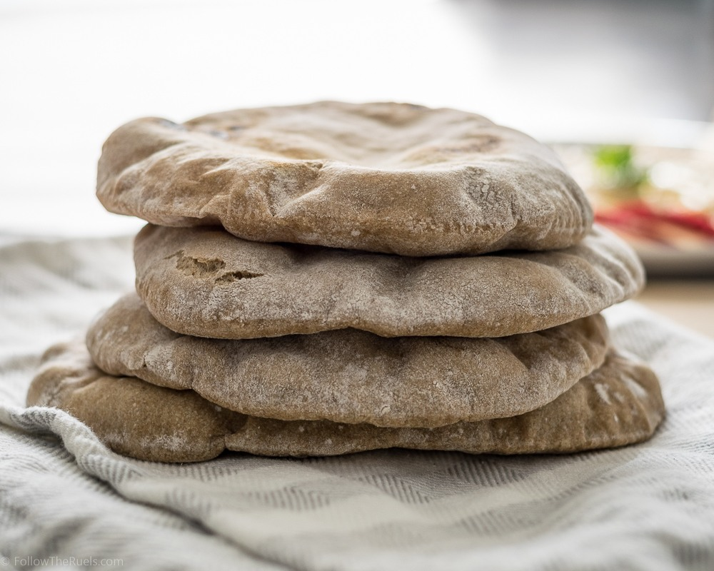 Homemade Whole Wheat Pita Bread Recipe | HeyFood — heyfoodapp.com