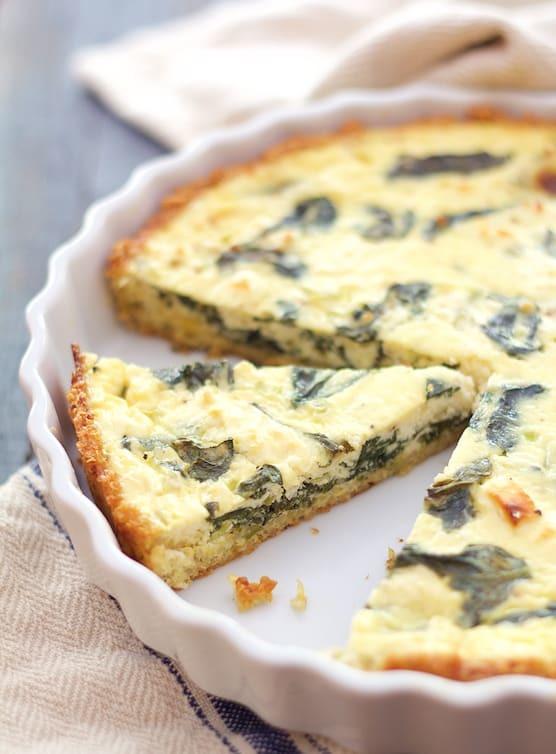 Spinach and Feta Quiche with Quinoa Crust Recipe | HeyFood — heyfoodapp.com
