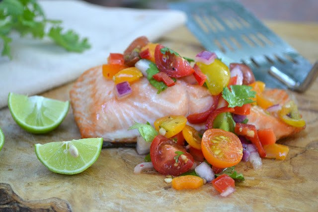 Chunky Cherry Tomato Salsa Recipe | HeyFood — heyfoodapp.com