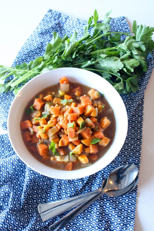Sweet Potato Red Lentil Soup Recipe | HeyFood — heyfoodapp.com