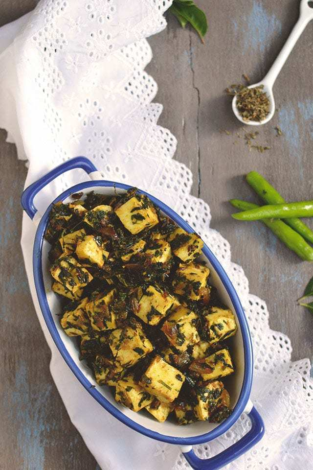 Methi Paneer Dry Curry Recipe | HeyFood — heyfoodapp.com