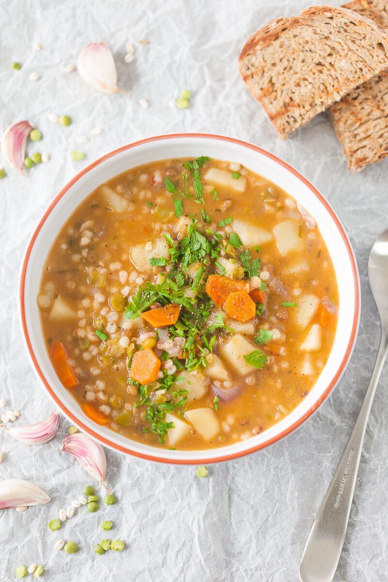 Vegan Barley and Lentil Soup Recipe | HeyFood — heyfoodapp.com